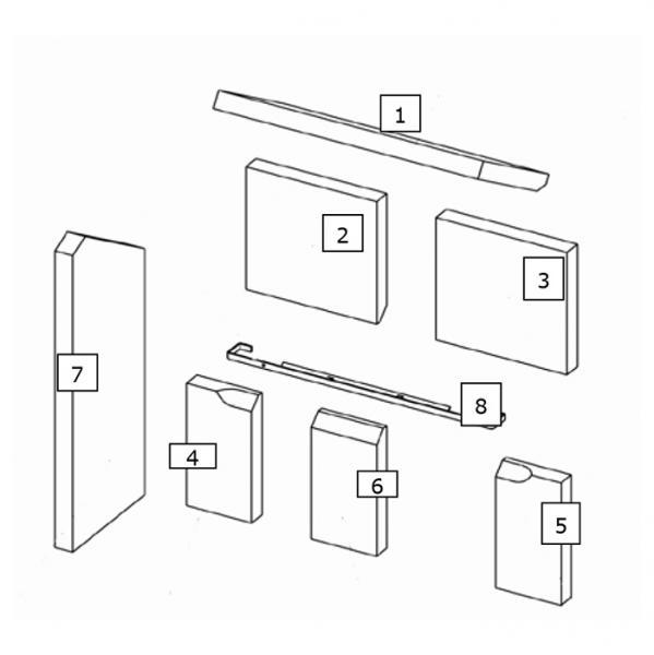 Feuerraumauskleidung Seitenstein Wamsler Kaminofen (135105) | Garten > Grill und Zubehör > Gartenkamine | Wamsler