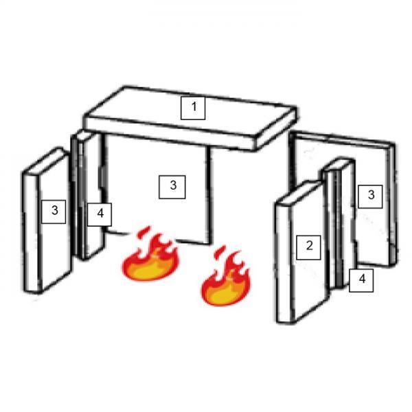 Feuerraumauskleidung Seitenstein Links, Rückwandstein Wamsler Kaminofen (100044) | Garten > Grill und Zubehör > Gartenkamine | Wamsler