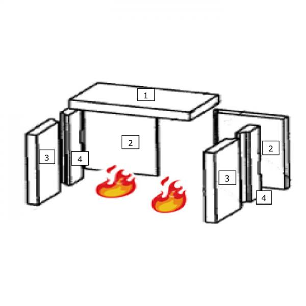 Feuerraumauskleidung Seitenstein Hinten Wamsler Kaminofen 1 (100805) | Garten > Grill und Zubehör > Gartenkamine | Wamsler