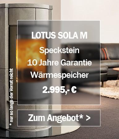Lotus Sola M Specksteinofen Angebot des Monats
