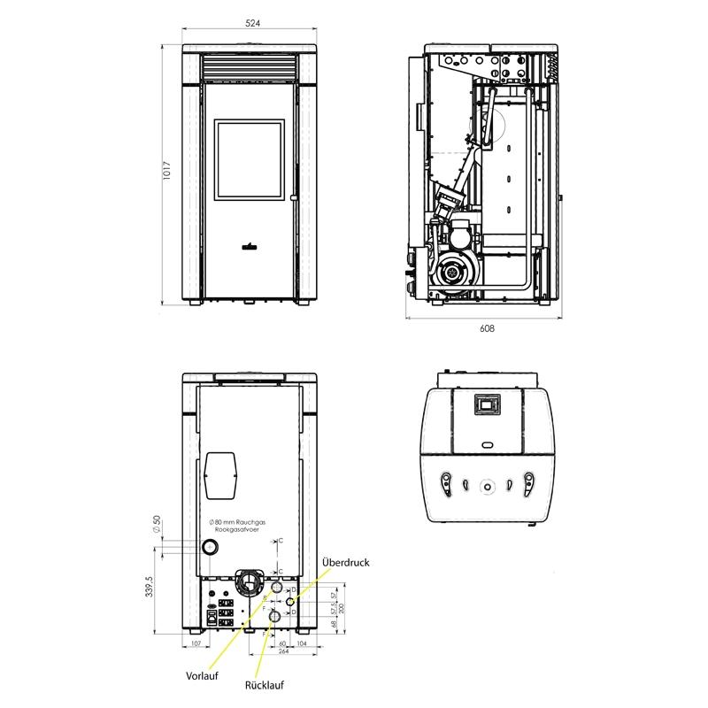 einen pelletofen als zentralheizung nutzen geht das heizanlagen infothek wissenscenter. Black Bedroom Furniture Sets. Home Design Ideas
