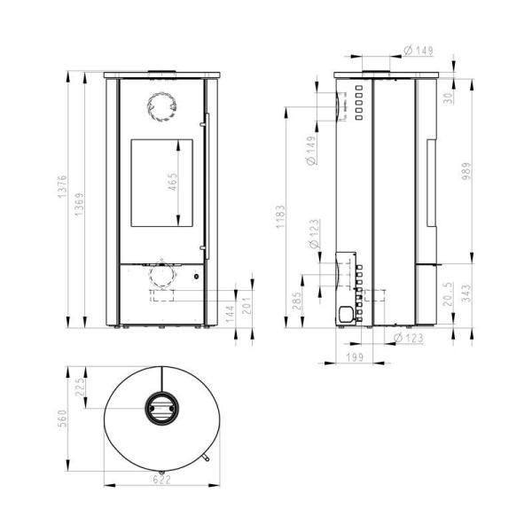 Kaminofen wasserführend Olsberg Tolima Aqua II Compact 10 kW jetztbilligerkaufen